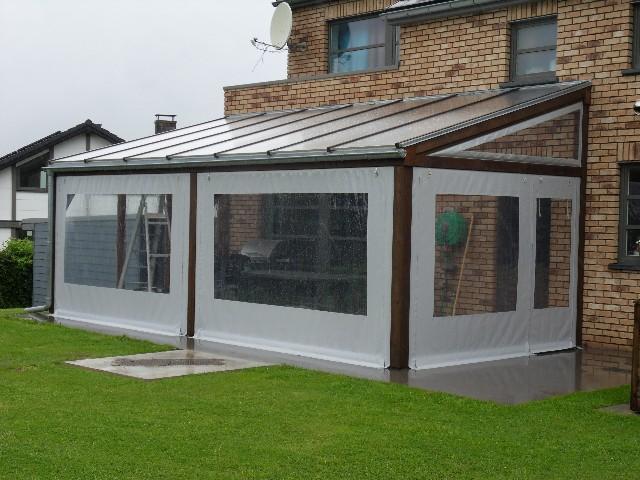 Jardin terrasse for Bache terrasse transparente